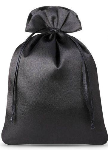 10 szt. Woreczki satynowe 12 x 15 cm - czarne