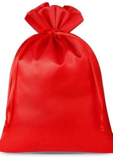 10 szt. Woreczki satynowe 12 x 15 cm - czerwone