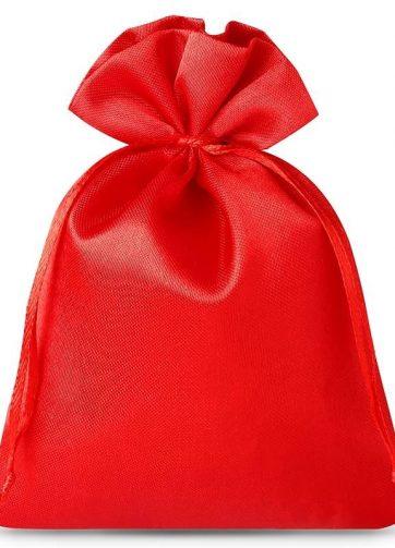 10 szt. Woreczki satynowe 8 x 10 cm - czerwone