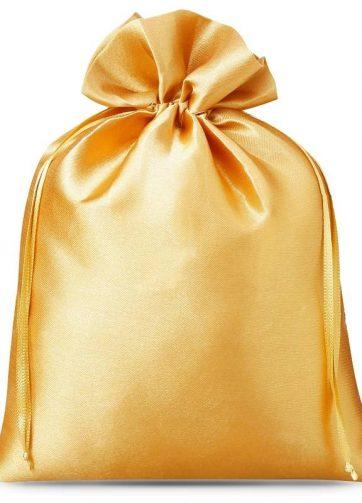 10 szt. Woreczki satynowe 12 x 15 cm - złote