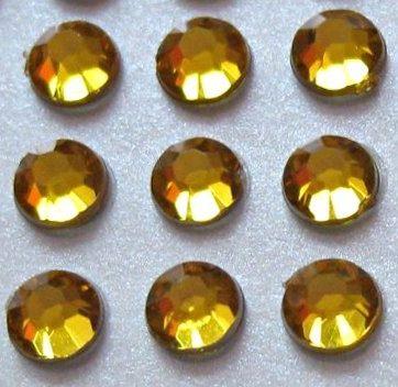 zamówienia hurtowe Cyrkonie okrągłe 4 mm (złoty) - 176 szt.