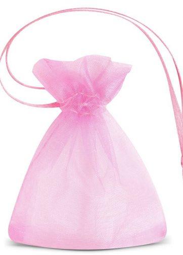 25 szt. Woreczki SD z organzy 7 x 9 cm (SDB) - różowe