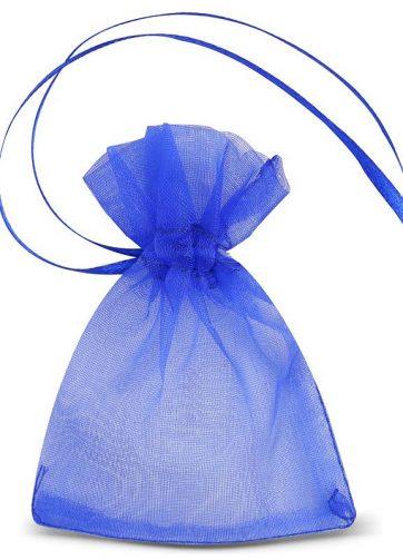 25 szt. Woreczki z organzy 7 x 9 cm (SDB) - niebieskie