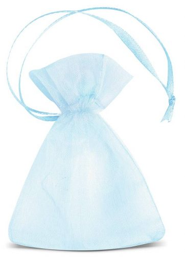 25 szt. Woreczki z organzy 7 x 9 cm (SDB) - błękitne