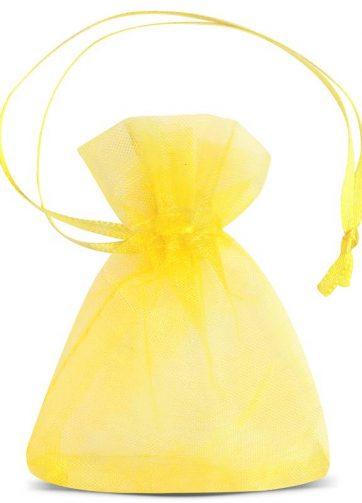 25 szt. Woreczki z organzy 7 x 9 cm (SDB) - żółte