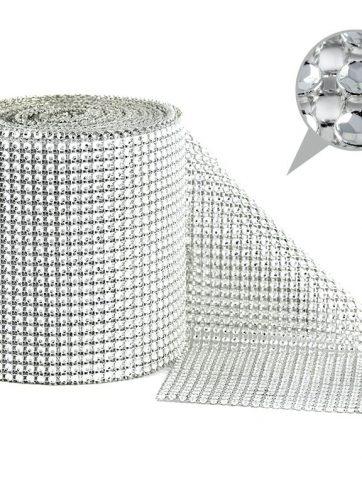 zamówienia hurtowe Taśma dekoracyjna 12 cm x 9m (srebrna) - 1 szt.