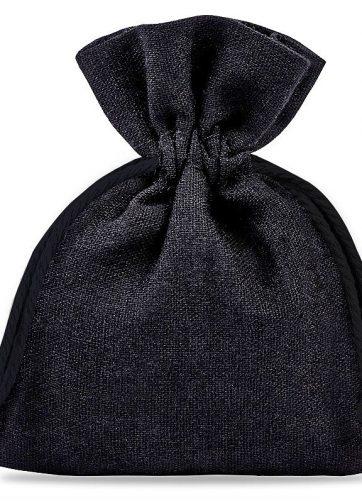 10 szt. Woreczki bawełniane 12 x 15 cm - czarne