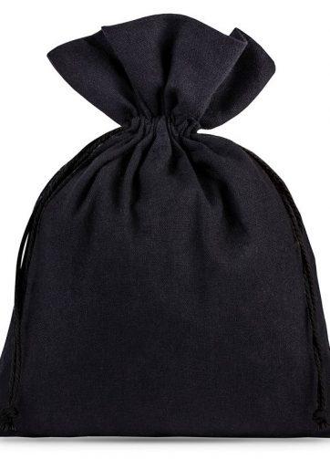5 szt. Woreczki bawełniane 15 x 20 cm - czarne