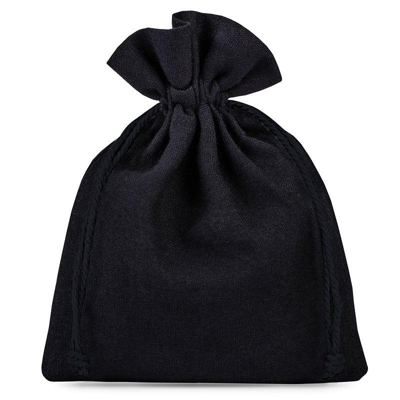 10 szt. Woreczki bawełniane 8 x 10 cm - czarne