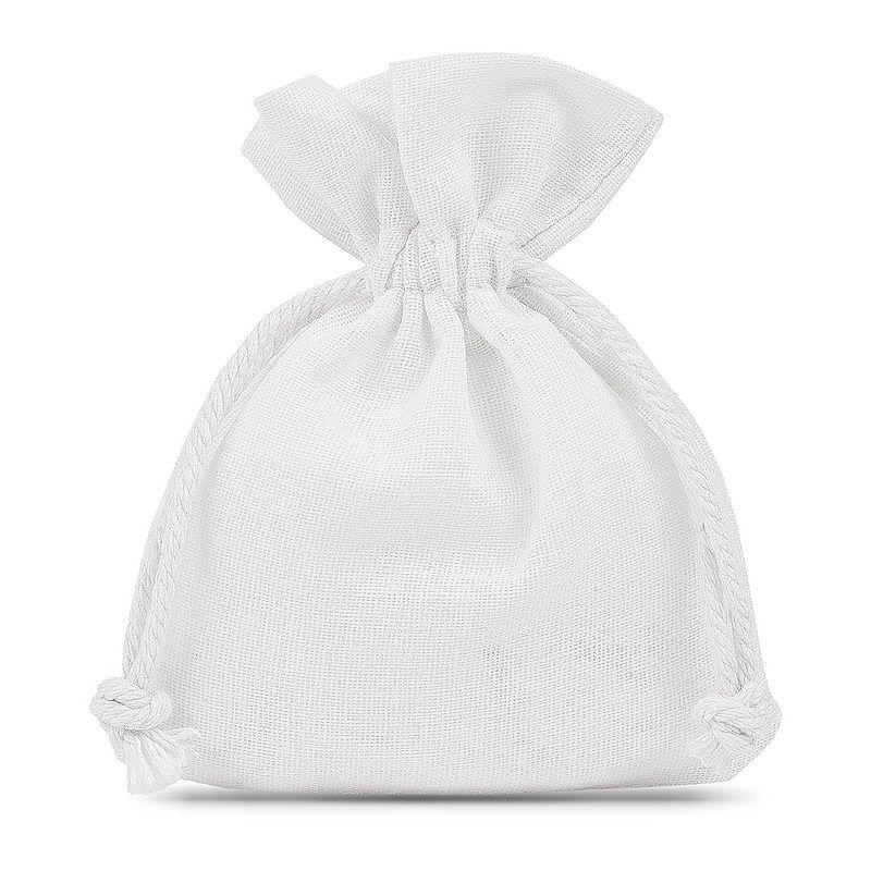 10 szt. Woreczki bawełniane 8 x 10 cm - białe