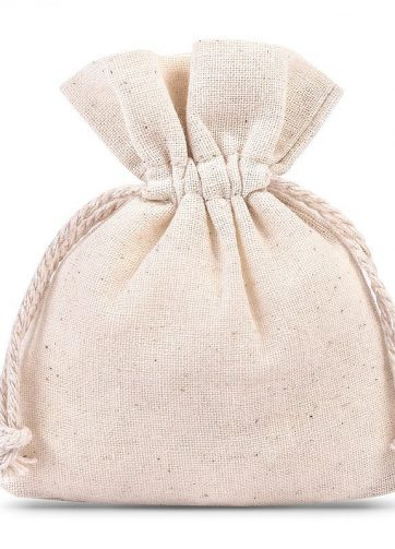 10 szt. Woreczki z bawełny 8 x 10 cm - naturalne